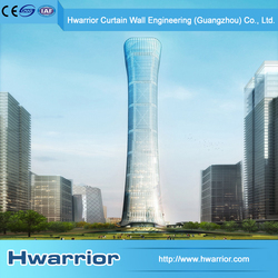 Hwarrior Decoration Reflected Glass Waterproof Exterior Curtain Wall