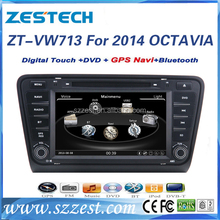 Zestech High Performance double din car stereo for Skoda octavia 2014 2015with SD card mp3 bluetooth 3G