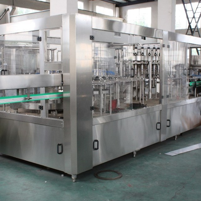 pet or glass bottle automatic carbonated drink equipment with low price