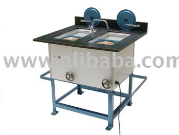 Two disc polishing machine