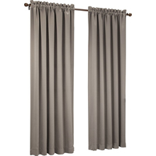 Blackout light brown curtain grommet top curtains elegant