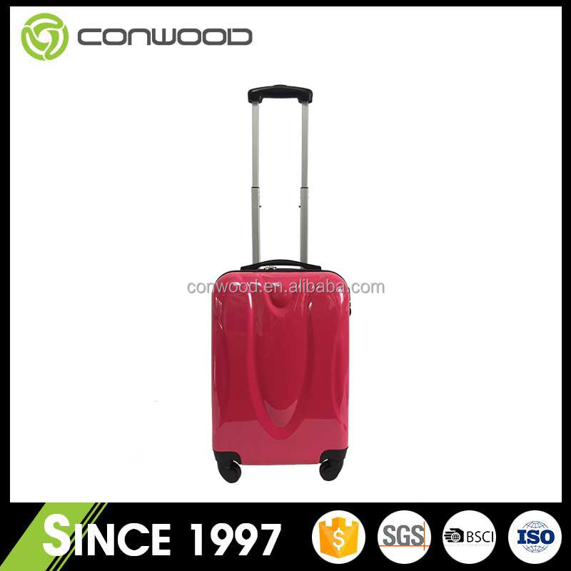 lightweight big trolley bags hard shell plastic suitcase spinner luggage