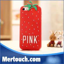 2014 hot Luxe Soft Rubber Dot Secret PINK Case Covers For iphone5 5s Phone Cases Strawberry Cases for iPhone5