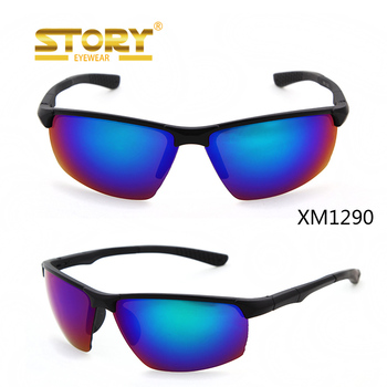 STORY Black Frame Custom Men half frame sports sunglasses