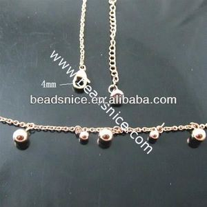Beadsnice Stainless Necklace 5.5x3mm leads jewelry fashion stainless steel bicycle chain necklace