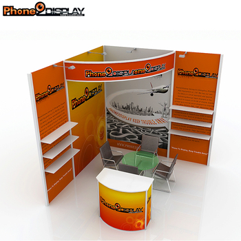 Modern Standard Aluminum Trade Show Shelf Booth For Promotion
