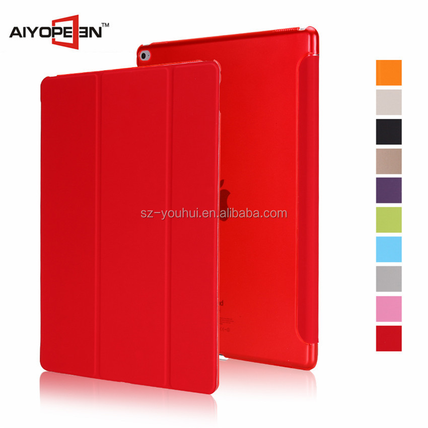 New Arrival smart cover for ipad pro case PU+PC material tablet cover for ipad pro 12.9 inch