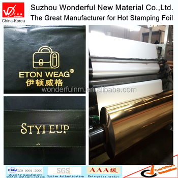 Gold color hot stamping foil for textile and fabric