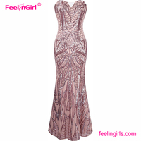 Big stock high quality long evening gown maxi wedding party dress
