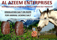 Himalayan Salt on rope for Animal Feed / Natural Himalayan Rock Crystal Cattle Salt Lick Pakistan