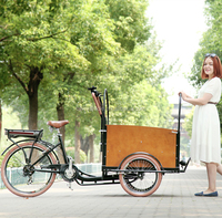 Dutch style steel frame family cargo motorized adult tricycles