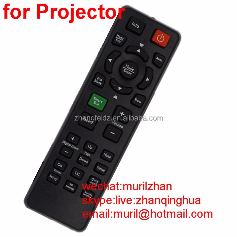 ZF Black 27 Big Buttons Projector Remote Control for BenQ profile projector
