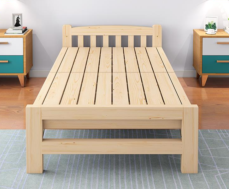 Modern burlywood wood double folding <strong>bed</strong> designs/solid wood <strong>bed</strong> furniture
