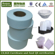 Nature color biodegradable teabag filter paper,Heat seal teabag filter paper roll