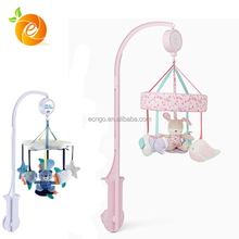 Cute Plush Animal Toy Hanging on Crib Music Mobile for Baby