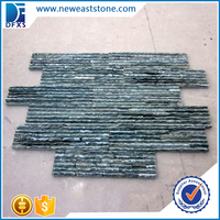 China manufacturers green slate ledger panels Decorative natural slate wall panel price