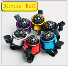 Mini Bicycle Handlebar Bell Ring with Compass Bicycle Handlebar Bell