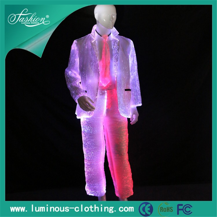 rave outfits electronic music festival fiber optic clothing luminous suits
