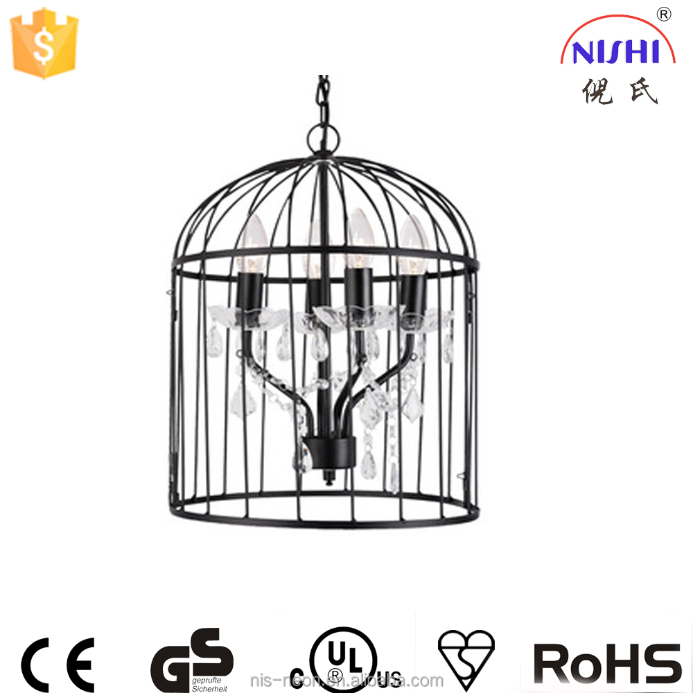 Country Style Pendant Lamp Rustic Chandelier in Birdcage /morrocan lantern cage lighting NS-124065