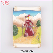 YC8017372A Custom 3D Book Roll Shapes Fridge Magnets with Many Kinds of Alps Scenery