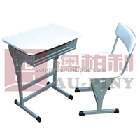 Plastic Adjustable Single Student Desk & Chair,School Furniture,Student Desk and Chair