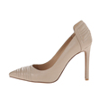 2016 DongGuan fashion high heels dress design newest leather nude prom/ derss/ party shoes for women