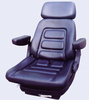 Damping luxury tractor seat with suspension can be adjusted
