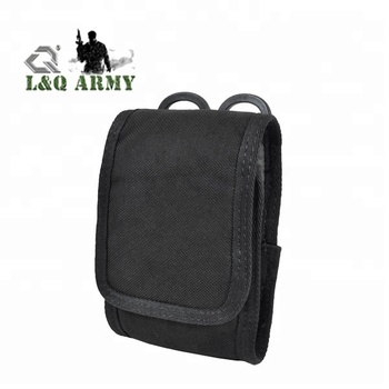 Black Army Camo Molle Bag For Mobile Phone Belt Pouch Holster Cover Case