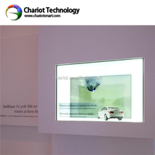 CHARIOT high transparency transparent lcd touch screen, transparent lcd display for product exhibition, advertising on sale.