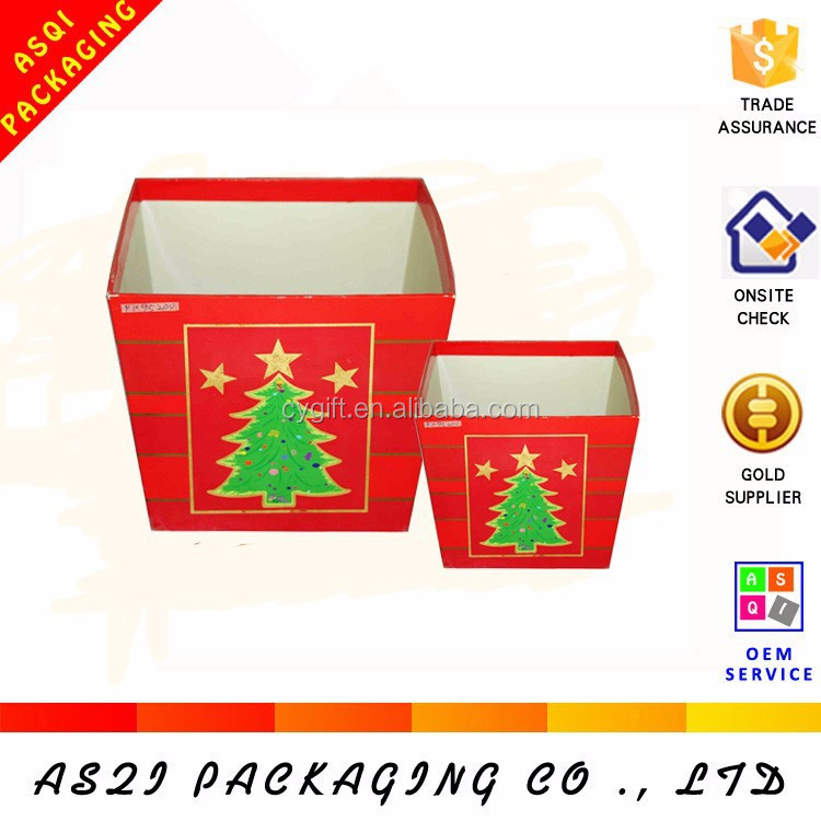 large storage tree printed paper cardboard christmas ball box for gift packaging