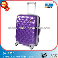 Purple PC luggage bags for sale/luggage for lady