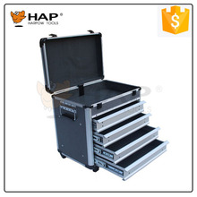 European Market Aluminum Tool Case With 3 Drawers