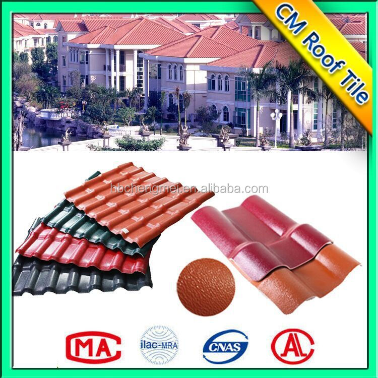 Factory Supplies Synthetic resin Low Cost Roof Tiles