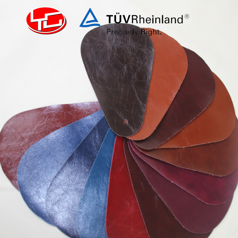 Hot sales pu artificial leather oiled leather for handbags bags shoes