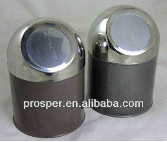Stainless Steel Waste Bin Push Can