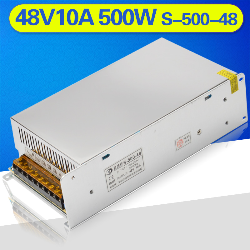 smps 500w 48v 10a ac to dc led power supply 48v10a switching power supply for cctv