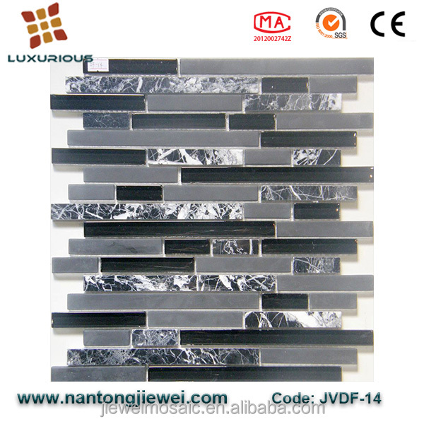 2017 most popular dark style stone mosaic strip used in kitchen/bathroom/toilet