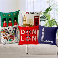 Home Decor Cotton Linen Pillow Cases Sofa Cushion Cover