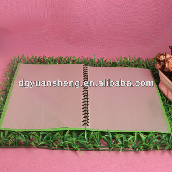 wholesale custom spiral binder a4 clear plastic folder sheet protectors