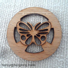 Wholesale customed laser cut butterfly wood carfts, Christmas small decorative wooden ornaments
