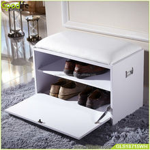 shoe storage bench with seat cushion