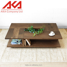Sectional modern nature Home Furniture wood japanese coffee table