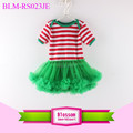 wholesale blank baby clothes christmas red white striped baby tutu romper children's fall boutique clothing chiffon jumpsuit