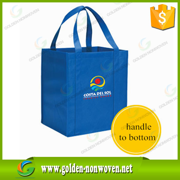 100gsm one color print large non woven shopping bag pp folding bag print tote bags