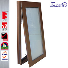 American style Customized aluminum standard size double glazing awning windows with low price