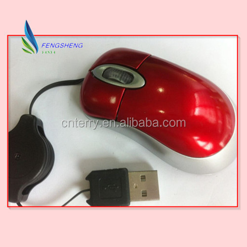 USB Retractable Mini Optical mouse