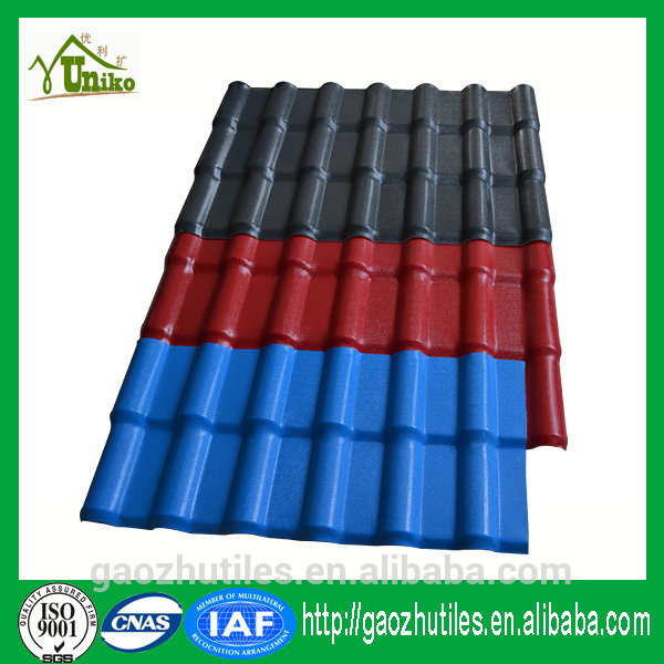 certificated Lasting color warehouse roofing tiles