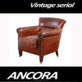 Luxury American style genuine leather sofa/Antique leather leisure sofa