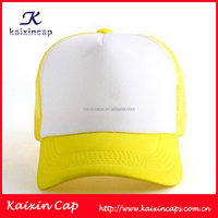 Wholesale Structured Two-Tone polyester 6-Panel baseball cap and hat