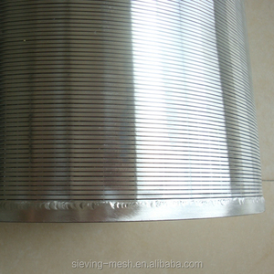 ss316 wedge wire screen filter mesh / stainless steel johnson slot wedge wire screen / rod based water well screen